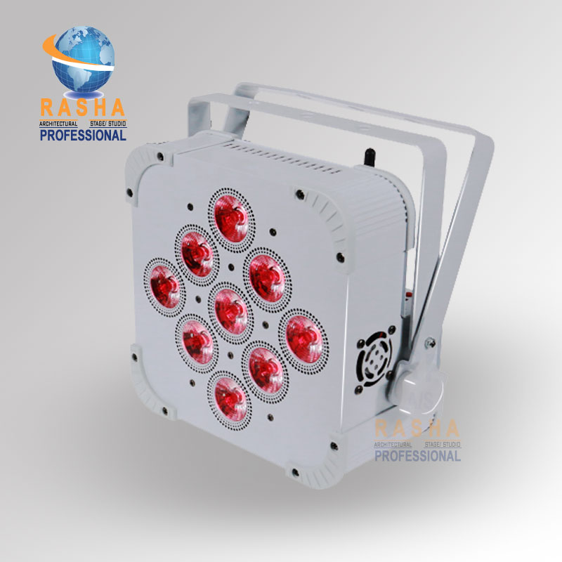 2X LOT Rasha Uzun Pil Ömrü 9*18 W 6in1 RGBAW + UV Pil Powered Kablosuz Dahili Ile LED Kayma Par Par Işık Can 1