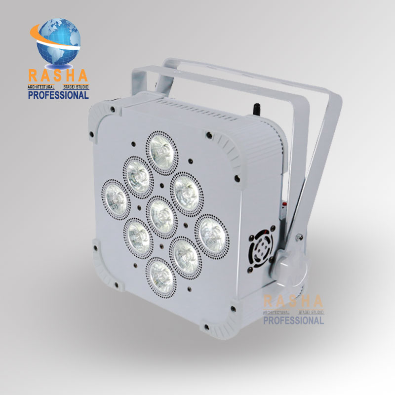 2X LOT Rasha Uzun Pil Ömrü 9*18 W 6in1 RGBAW + UV Pil Powered Kablosuz Dahili Ile LED Kayma Par Par Işık Can 4