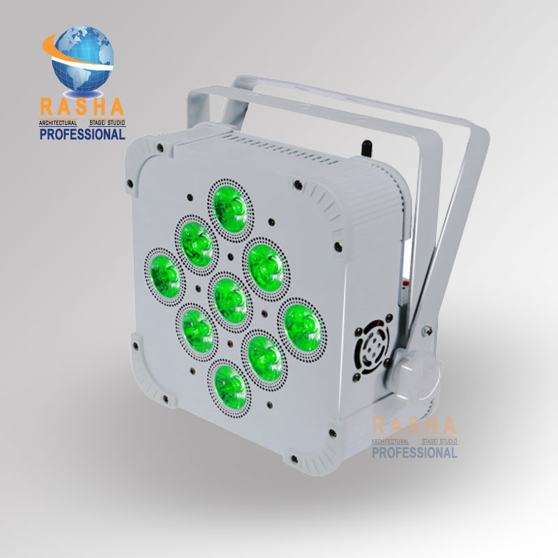 2X LOT Rasha Uzun Pil Ömrü 9*18 W 6in1 RGBAW + UV Pil Powered Kablosuz Dahili Ile LED Kayma Par Par Işık Can 5