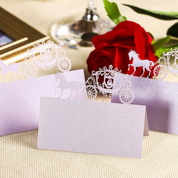 120 pcs Laser Cut Place Name Card Wholesale Wedding Decorative Paper Seat Cards Festival Party Decor Tool 106509