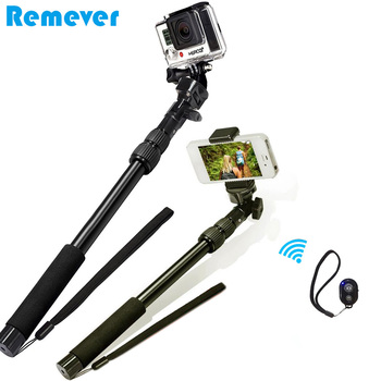 2 in1 bluetooth özçekim sopa 390-865mm bluetooth monopod iphone android için gopro SJ kamera + Bluetooth deklanşör 110903