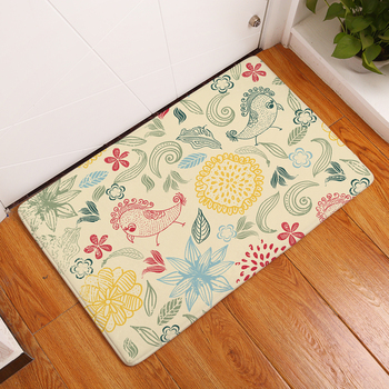 2017 New Home Decor Cartoon Color Pattern Carpets Non-slip Kitchen Rugs for Home Living Room Floor Mats 40X60 50X80cm 61278