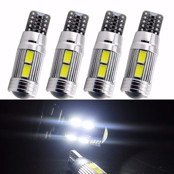 4 Veilleuses LED W5W T10 Canbus ANTI ERREUR ODB Blanc COB voiture ampul 10 5630/5730 SMD 67530