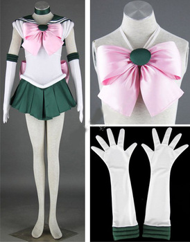 Hoat Anime Sailor Moon Sailor Jüpiter Kino Makoto Cosplay Kostüm Sailor Üniforma 2S-3XL YENI 117997