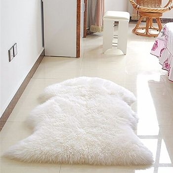 New Soft Faux Sheepskin Rug Mat Carpet Pad Anti-Slip Chair Sofa Cover For Bedroom Home Decor 99269