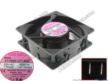 NMB-MAT 4715MS-22T-B50, HA1 Sunucu Kare Fan AC 220 V 14/13 W 120X120X38mm 75935