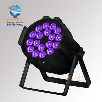 Rasha Hex 18*18 W RGBAW 6in1 UV LED Par Işık, DMX IN Ile Alüminyum LED Par Can & OUT, Güç Sahne Olay Için Proje IN & OUT 98986