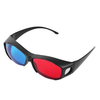 Universal Type TV Movie Dimensional Anaglyph Video Frame Glasses DVD Game Anaglyph 3D Plastic Glasses Reading Glasses 95449