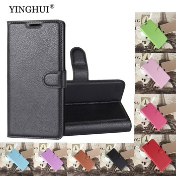YINGHUI Luxury Wallet Credit Card Book Style Flip Stand Leather Case Back Cover For Huawei Honor 7 Leather Case Black 19784