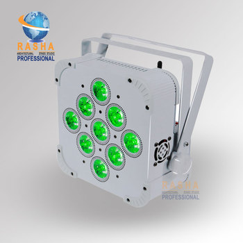 2X LOT Rasha Uzun Pil Ömrü 9*18 W 6in1 RGBAW + UV Pil Powered Kablosuz Dahili Ile LED Kayma Par Par Işık Can